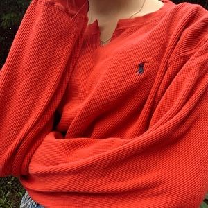 Vintage Ralph Lauren cropped red cull
